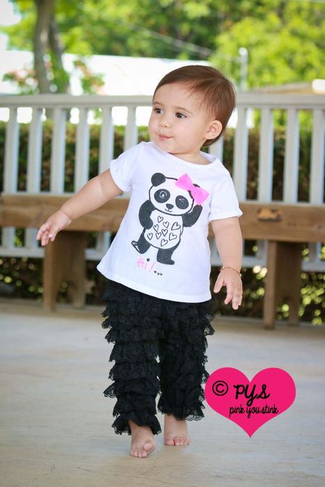 Black Lace Ruffled Pettipants Leggings