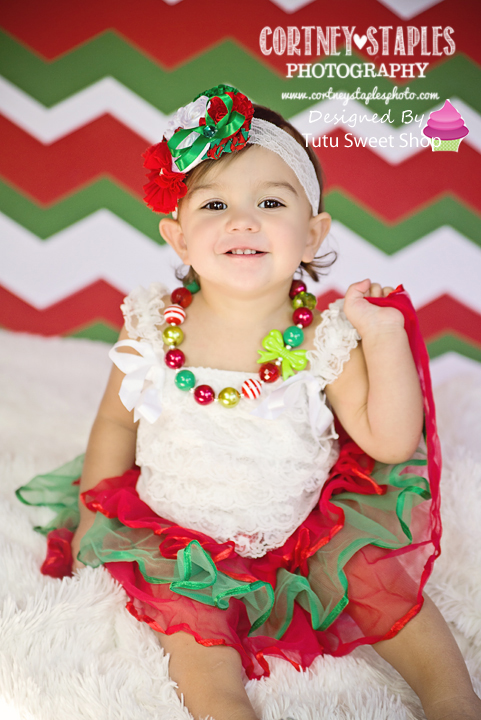 Holiday Bows Christmas Chunky Girls Necklaces