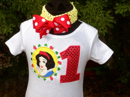 Snow White Inspired Personalized Tutu Outfit