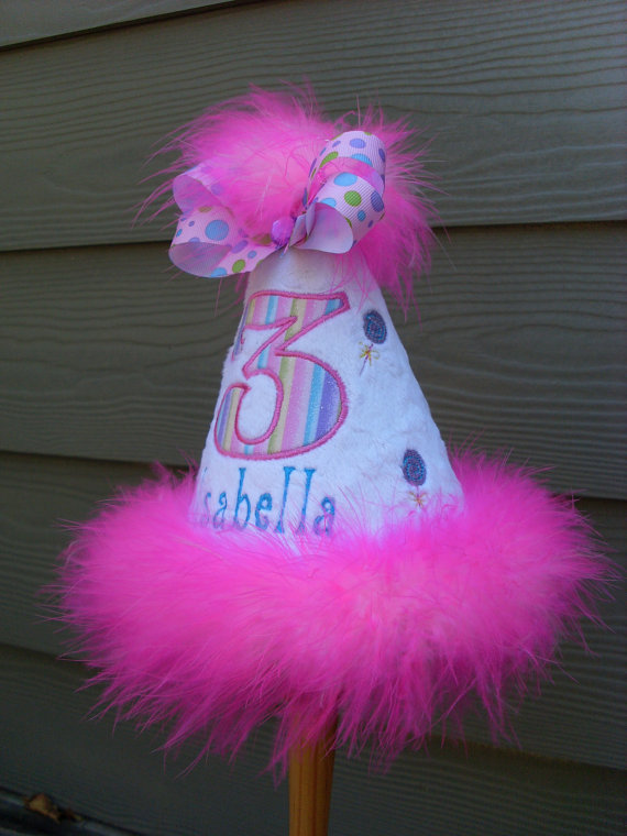 Personalized Lollipop Birthday Party Hat