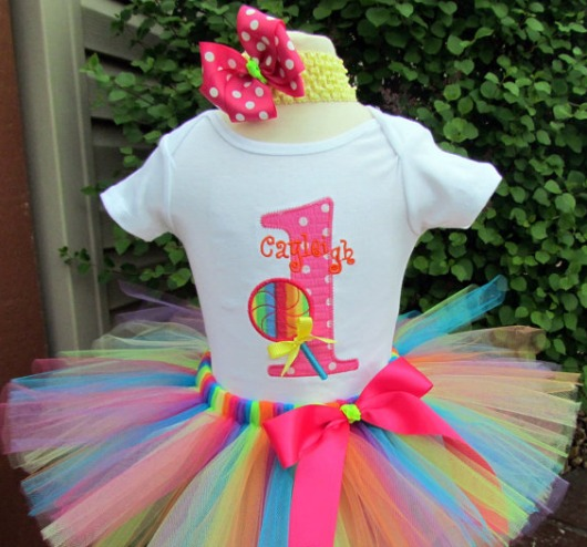 Lollipop Surprise Birthday Tutu Outfit
