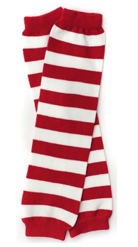 Red and White Striped Legwarmers