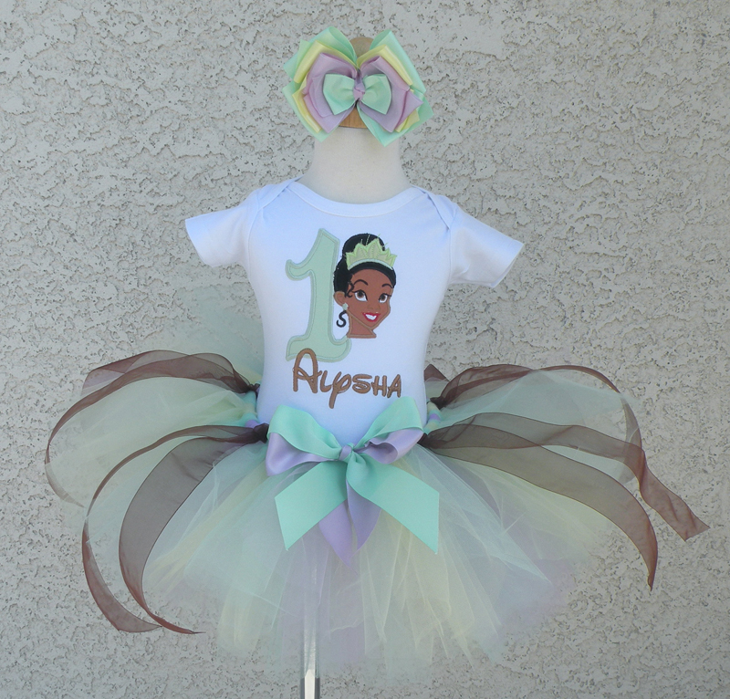 Customized Princess Tiana Inspired Girls Birthday SHIRT ONLY