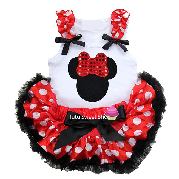 Polka Dot Minnie Inspired Newborn Baby Tutu Outfit