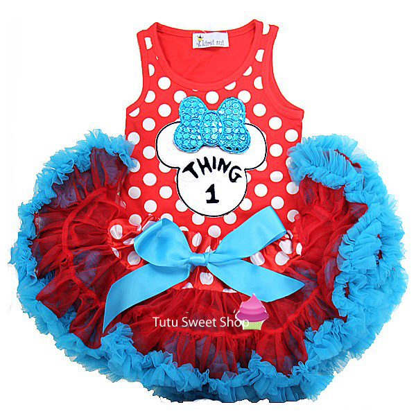 Thing 1 Minnie Inspired Newborn Baby Tutu Outfit