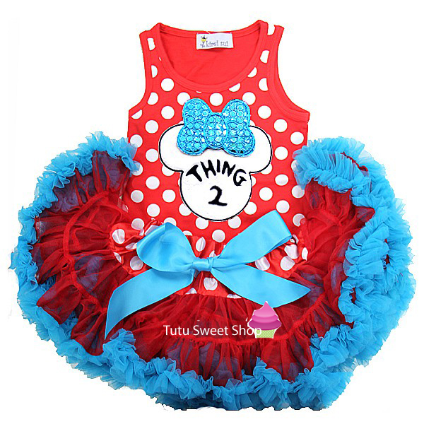 Thing 2 Minnie Inspired Newborn Baby Tutu Outfit
