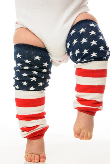 American Flag 4th Of July Legwarmers