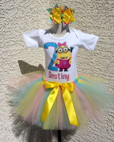 Customized Despicable Me Minion Inspired Birthday Tutu Outfits Any Age