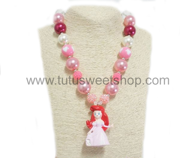Princess Ariel Gumballs Chunky Girls Necklaces