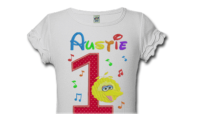 Big Bird Personalized Kids Birthday Shirts
