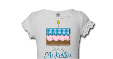 Birthday Cake With Candle Personalized 1st Birthday Shirts