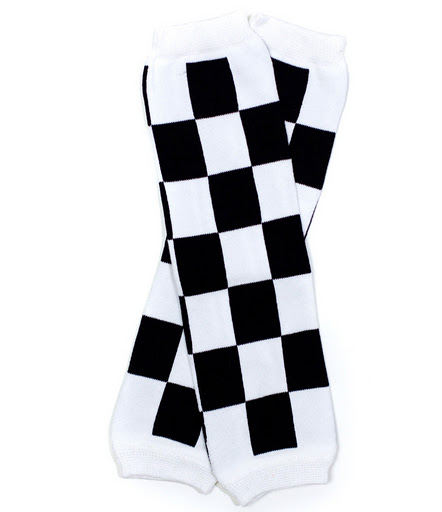 Black and White Checkered Legwarmers