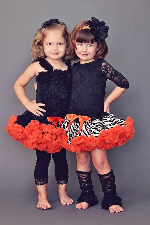Black and Orange Halloween Pettiskirt ONLY