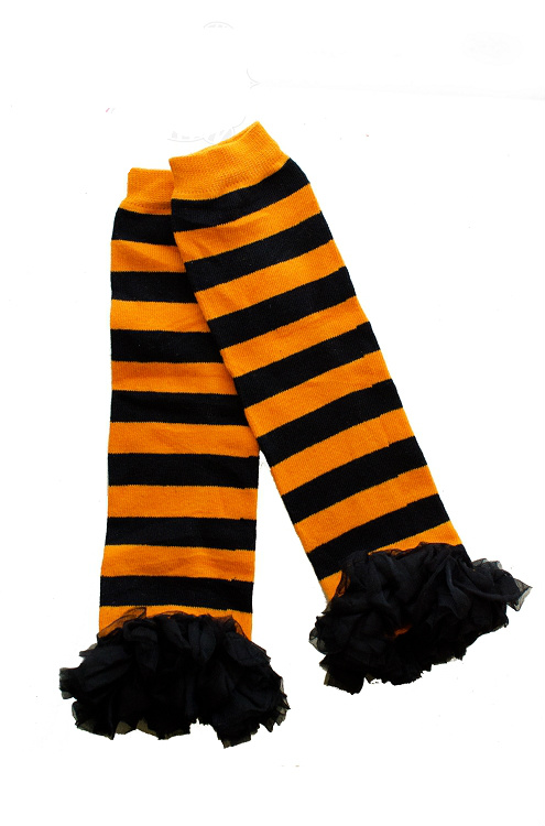 Black and Orange Striped Legwarmers