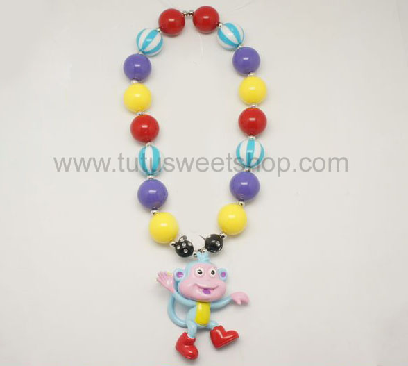 Boots Gumballs Chunky Girls Necklaces