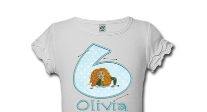 Brave Personalized Girls Birthday Shirts