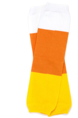 Candy Corn Inspired Kids Halloween Legwarmers