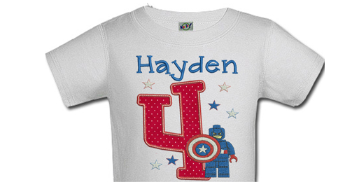 Captain America Personalized Boys Birthday Shirts