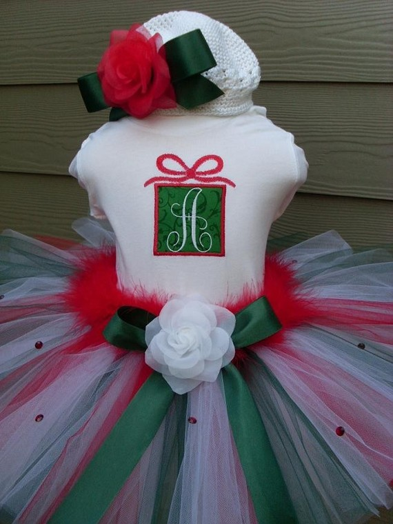 Christmas Present Holiday Tutu Outfit