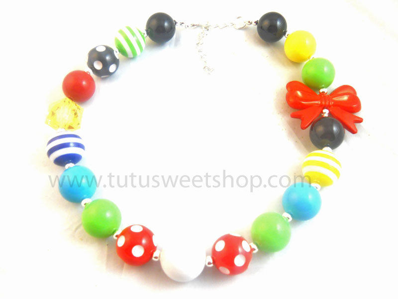 Circus Fun Gumball Chunky Girls Necklaces