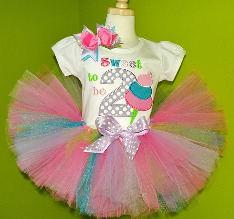 Custom Cotton Candy Birthday Tutu Outfit