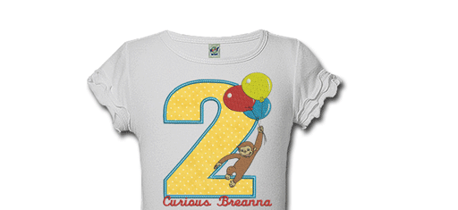 Curious George Personalized Birthday Shirts