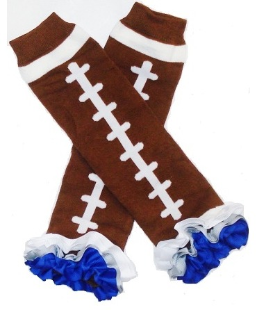 Dallas Cowboys Inspired Ruffled Legwarmers