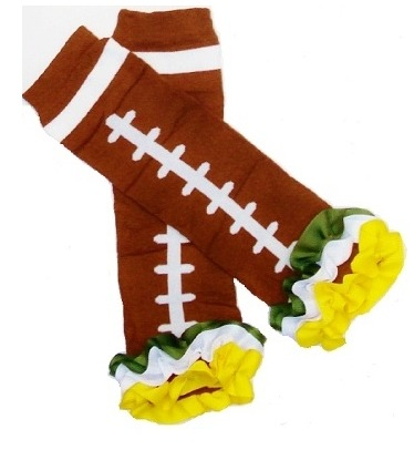 Green Bay Packers Inspired Ruffled Legwarmers