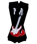 Black Guitar Kids Leg Warmers