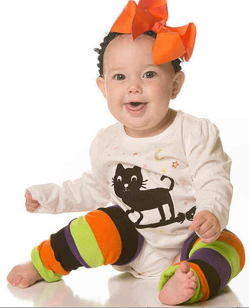 Striped Halloween Kids Legwarmers