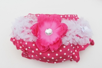 Hot Pink and White Polka Dot Ruffled Bloomers