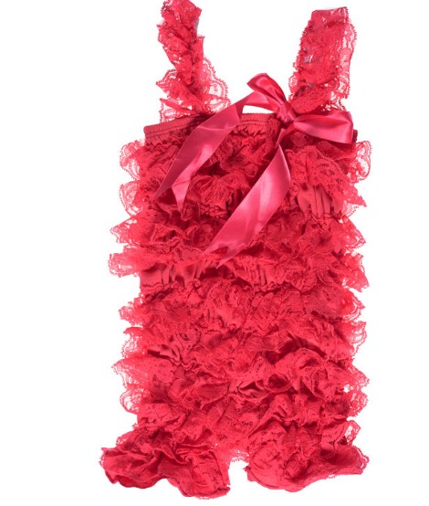 Hot Pink Lace Petti Romper