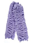Lavender Ruffled Girls Legwarmers