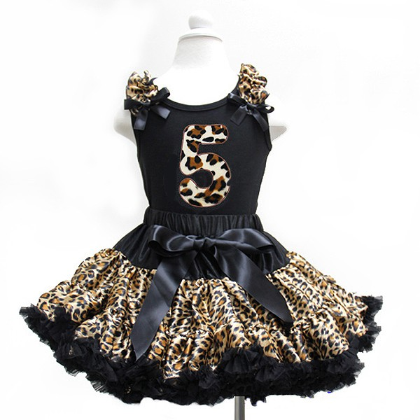 Leopard Print Birthday Tutu Outfit Ages 1-6