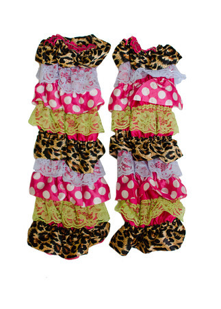 Leopard Melting Pot Ruffled Legwarmers