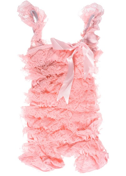 Light Pink Lace Pettiromper