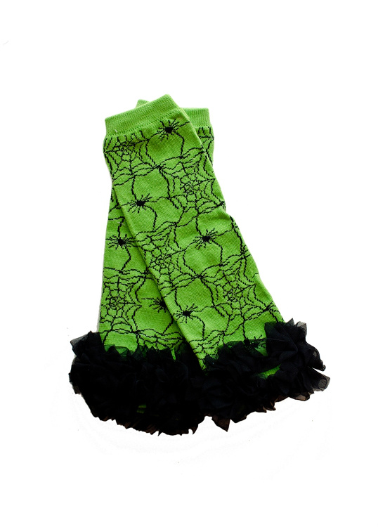 Lime Green Spider Legwarmers
