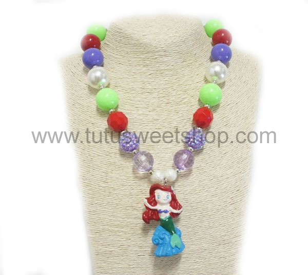 Mermaid Gumballs Chunky Girls Necklaces