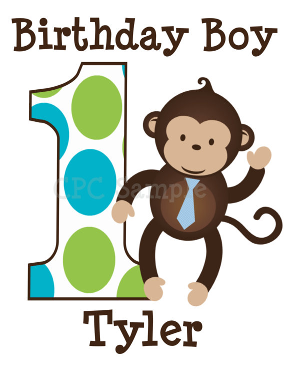 Monkey Birthday Boy Personalized Birthday Shirts