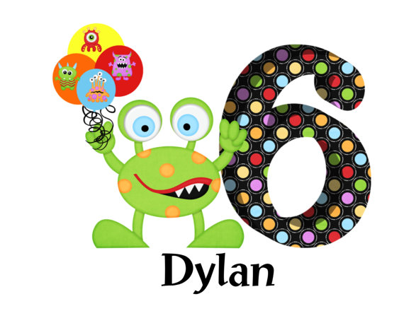 Monster Balloons Personalized Birthday Shirts
