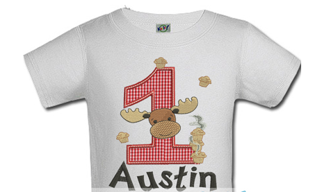Personalized Moose Kids Birthday Shirts