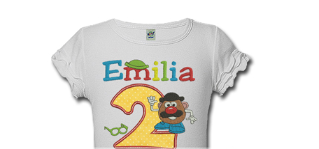 Mr Potato Head Personalized Kids Birthday Shirts