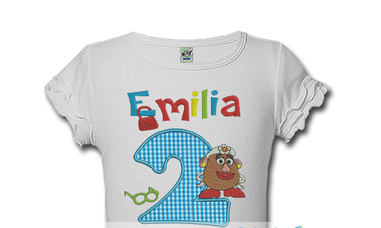 Mrs Potato Head Personalized Girls Birthday Shirts