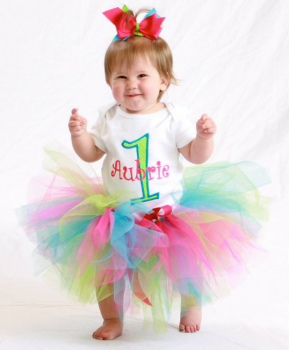 Personalized Multi Colored Birthday Tutu Outfit