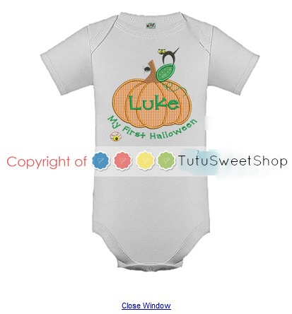 My First Halloween Personalized Shirts For Kids