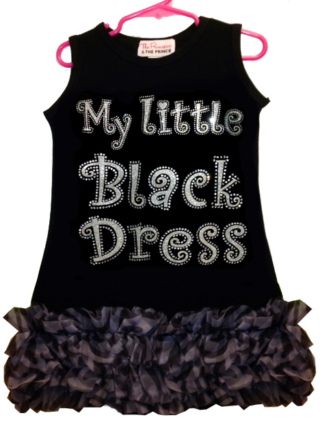 My Little Black Ruffled Dress