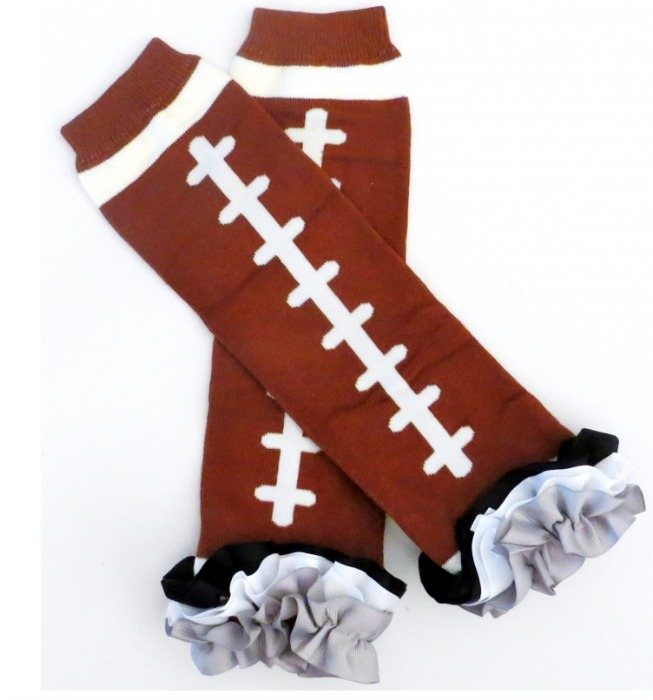 Oakland Raiders Inspired Ruffled Legwarmers