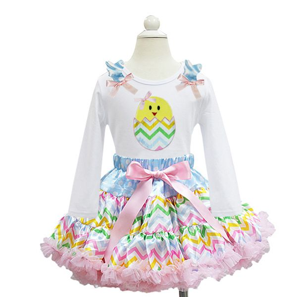 Pastel Chevron Chick Easter Tutu Outfit