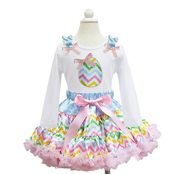 Pastel Chevron Easter Egg Easter Tutu Outfit