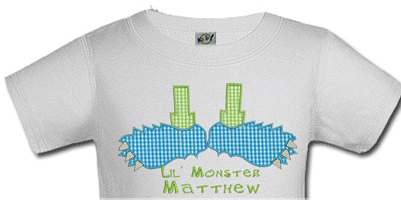 Personalized Monster Feet Halloween Shirts For Kids